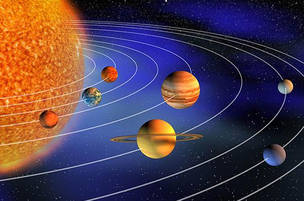 OTTO PIANETI E UNA STELLA <p>Ritratto di famiglia del Sistema Solare</p>