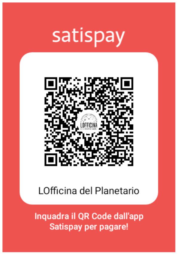 Satispay LOfficina del Planetario